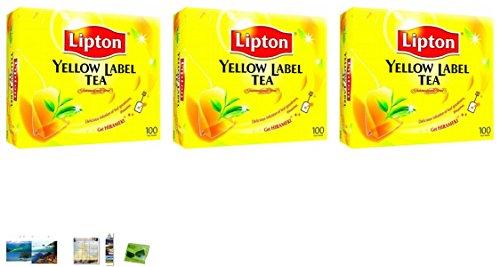 3 Packs Of Lipton Yellow Label Tea Bags 100Ct Thailand