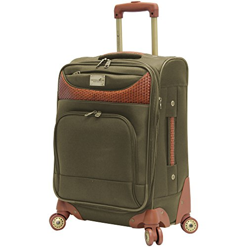caribbean-joe-20-carry-on-spinner-luggage-olive-green-20