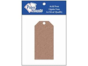 AD Paper Craft Tags 1.625x3.25 25pc Brown Bag