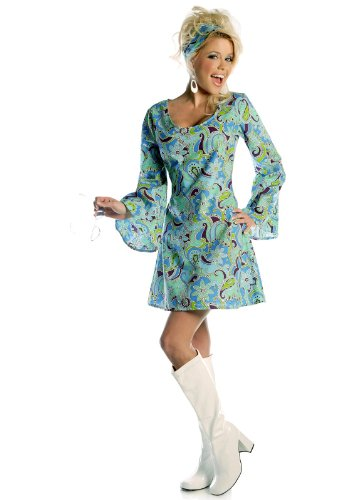 Blue Go-Go Girl Adult Costume