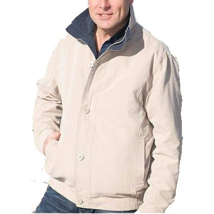 Tayberry Hampton Mens Stone Zip Front Jacket - Size XX-Large (50 - 52 inch chest)