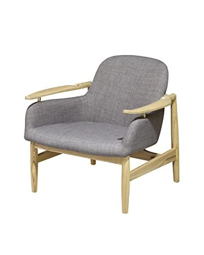 International Designs USA Imperial Mid-Century Chair, Grey As You See