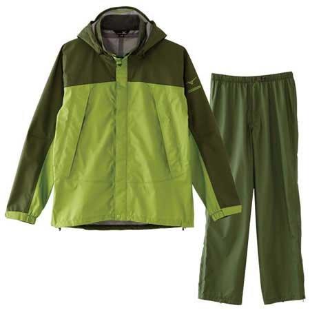 (Mizuno) Mizuno Berg tech EX storm Saber V rain suit Men's A2JG4A01 40: pistachio MBB