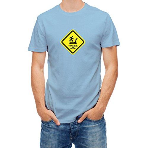 T-shirt Training Area Sign Blue Sky XXL