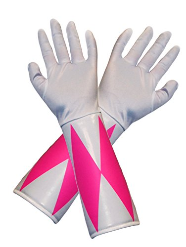 Power Rangers Pink Ranger Costume Gloves Adult One Size