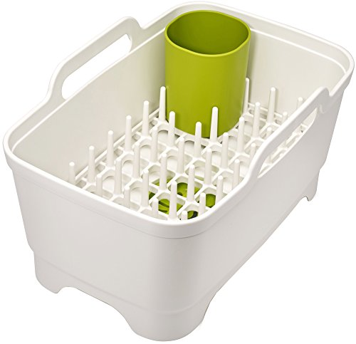 joseph-joseph-wash-and-drain-plus-washing-up-bowl-with-dish-drainer-white-green