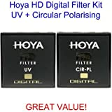 Hoya 55mm HD Digital Circular Polarising CPL & UV Multi-Coated Lens Filter Kit