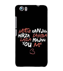 Heart 3D Hard Polycarbonate Designer Back Case Cover for Micromax Canvas Fire 4 A107