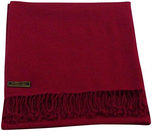 Scialle, pashmina, sciarpa avvolgente, scialle pashmina, robusto, colorato, (più di 60 colori), nuovo - Bordeaux