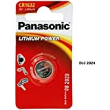 Panasonic CR1632 - Piles Lithium 3V - Non rechargeables