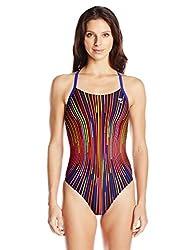 Tyr Supersonic Diamondfit Polyester Swimsuit, Women's Size 26 (Multicolour)