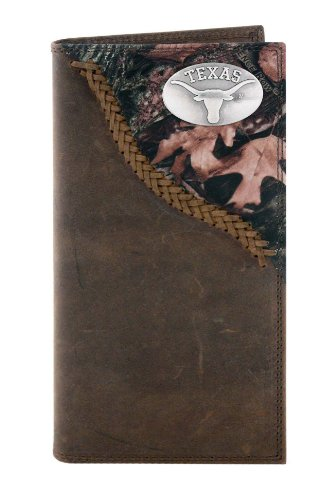 NCAA Texas Longhorns Camo Leather Roper Concho Wallet, One Size at Amazon.com