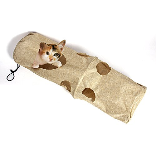 QQPET Activity Play Cat Tunnel Large Interactive Scratching Toy for Kitten