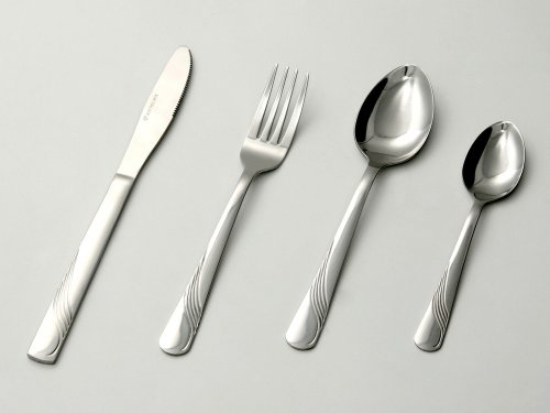24-pcs. cutlery set made of stainless steel, with decoration on handle
