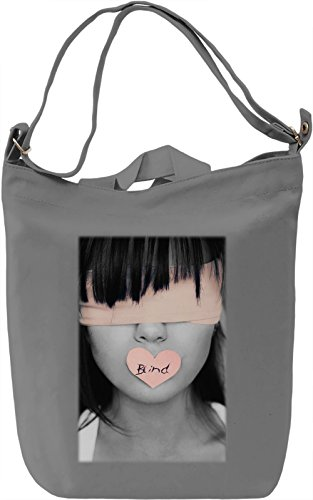 Blind Love Girl Portrait Borsa Giornaliera Canvas Canvas Day Bag| 100% Premium Cotton Canvas| DTG Printing|