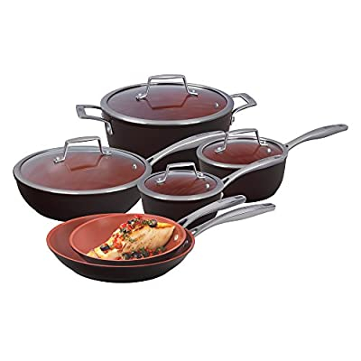 Bialetti Terracotta Xtra 10 Piece Cookware Set, Brown