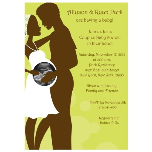 Happily Expecting Couple Sonogram Baby Shower Invitations - Set Of 20 front-978714