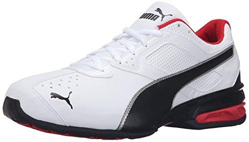 PUMA Men's Tazon 6 Fm Cross-Trainer Shoe, Puma White/ Puma Black/ Puma Silver, 9 W US