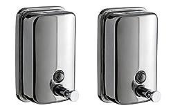 Truphe Stainless Steel Soap Dispenser Set Of 2
