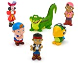 Disney Store bath toys Jake and the Never Land Pirates Jake Izzy Croc Cubby Captain Hook Skully