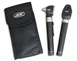 American Diagnostic Corporation Pocket Set Otoscope/Ophthalmoscope, Black, Adult