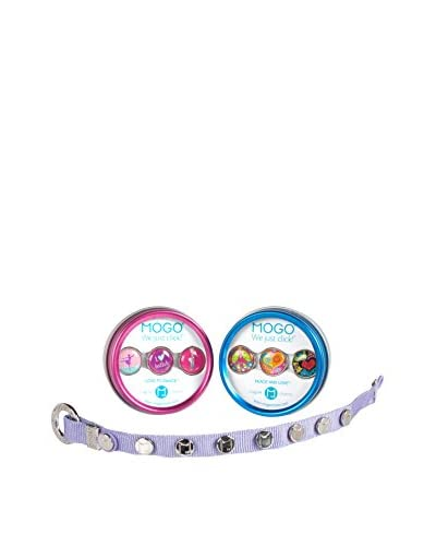MOGO Kids Charmband with 2 Charm Sets Love to Dance Peave & Love, Violet