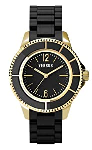 Versus by Versace Women's AL13LBQ709A009 Tokyo Gold Ion-Plated Black Water Resistant Watch