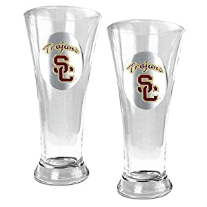 Usc Trojans Ncaa 2Pc Pilsner Set by Great American Products
