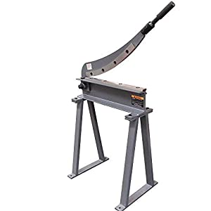 KAKA Industrial HS-30 Manual Guillotine Shear, 30-Inch,16 Gauge Sheet Metal Fabrication Plate Cutting Cutter With Stand (Color: gray, Tamaño: Small)