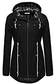 Meaneor Women's Winter Warm Thicken Plus Jacket Hooded Parka Coat Outwear