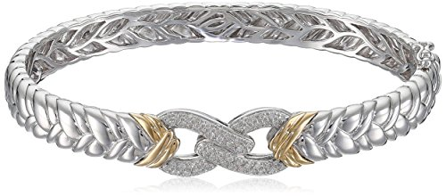 Sterling-Silver-14k-Yellow-Gold-Diamond-Braided-Infinity-Bangle-Bracelet-14cttw-I-J-Color-I2-I3-Clarity-275