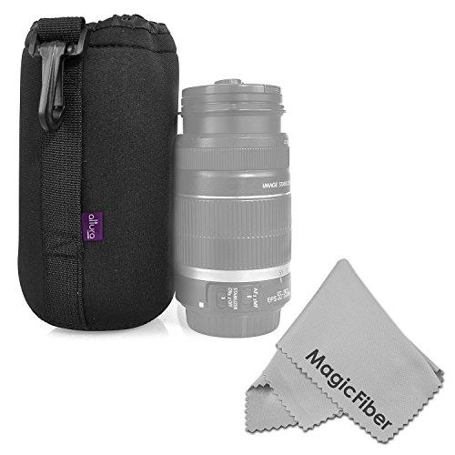 Altura Photo Large Neoprene Pouch Bag For Dslr Camera Lens (Canon, Nikon, Pentax, Sony, Olympus, Panasonic) + Magicfiber Microfiber Lens Cleaning Cloth