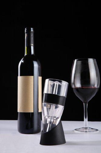 Magic Decanter Weinbelüfter & Standfuß, Premium Wein-Dekantierer mit Venturieffekt (Wine Aerator)