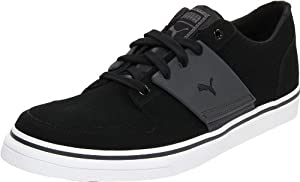 PUMA Men's El Ace 2 Nubuck Leather Sneaker,Black/Dark Shadow,10 D US