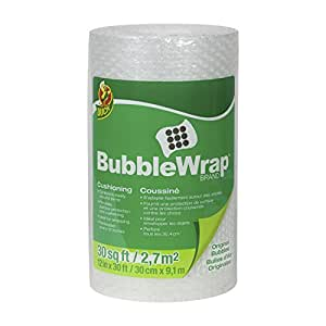 Duck Brand Bubble Wrap Original Cushioning, 12 Inches Wide x 30 Feet Long, Single Roll (393251)