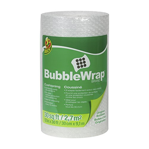 Duck Brand Bubble Wrap Original Cushioning, 12 Inches Wide x 30 Feet Long, Single Roll (393251) 3 Piece Desk Accessory
