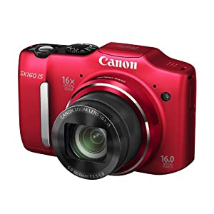 Canon PowerShot SX160 IS 16.0 MP Digital Camera with 16x Wide-Angle Optical Image Stabilized Zoom with 3.0-Inch LCD (Red)