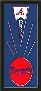 Atlanta Braves Wool Felt Mini Pennant & Atlanta Braves Team Logo Photo - Framed... by Art and More, Davenport, IA