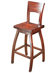 Sterling 6500822 Napa Wood Bar Stool, 45-Inch, Mahogany Stain by Sterling