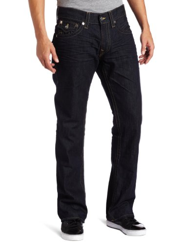 True Religion Men's Ricky Straight-Leg Jean in BZ Inglorious by True Religion