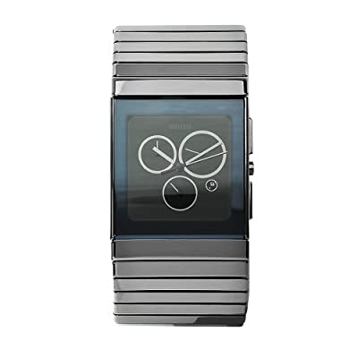 Rado Men's R21824152 Ceramica Black Dial Ceramic Chronograph Watch