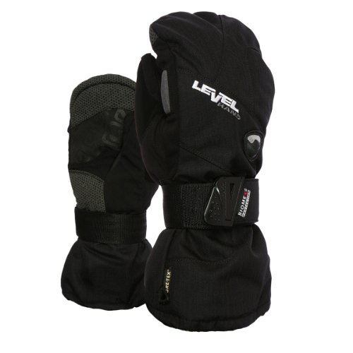 Level Women's Half Pipe Goretex Mitt Black (7.0/S) (Winter Gloves With Removable Tips compare prices)