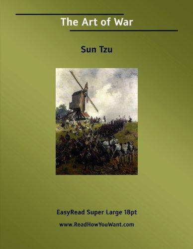 The Art of War  [EasyRead Super Large 18pt Edition]