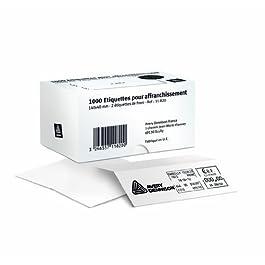 AVERY - 11-829 - 1000 étiquettes d'affranchissement blanches adhésives. 165x(2x40)+25mm