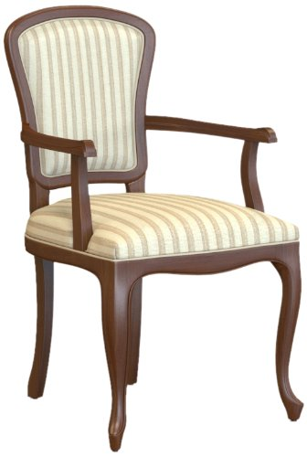 Selva SPA Epoca Mirabeau 8029853000540 Wood Armchair Classic and Elegant with Walnut Finish, 54 x 61/ 96/ 51 cm, Brown