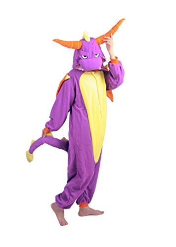 [XMiniLife Purple Spyro Adult Cosplay Costume /S] (Spyro The Dragon Halloween Costume)