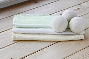Avanchy Bamboo Washcloths Plus Dryer Balls Combo, White/Yellow/Green