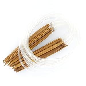 18 tailles 2.0mm 10.0mm-80cm circulaire en bambou Aiguilles à tricoter Aiguilles / Anti-Résistance bambou avec finition lisse avec