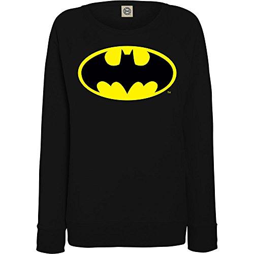 DC Comics Donna Batman Logo Felpa Small Nero