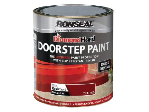 Ronseal DHDSPR750 750ml Diamond Hard Doorstep Paint - Tile Red